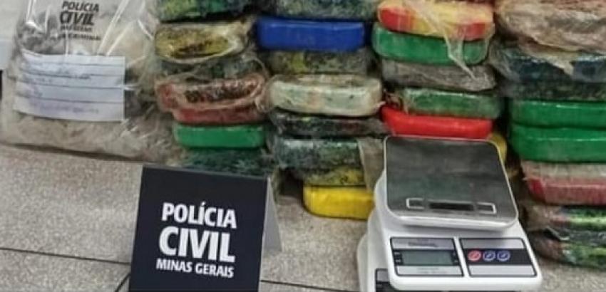 Operação da PCMG resulta na apreensão de mais de 72 quilos de crack em Matozinhos