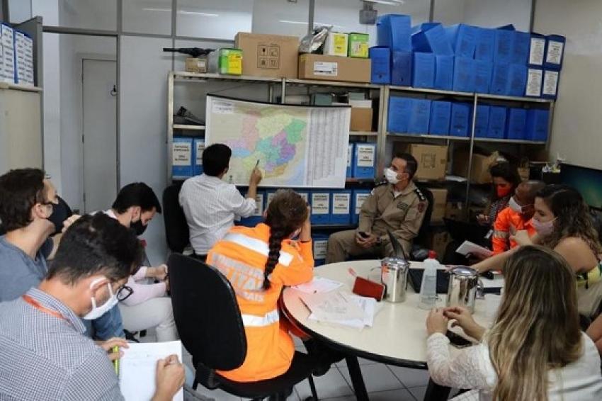 Governo e Forças de Segurança do Estado se reúnem para detalhar logística de distribuição da vacina contra covid-19