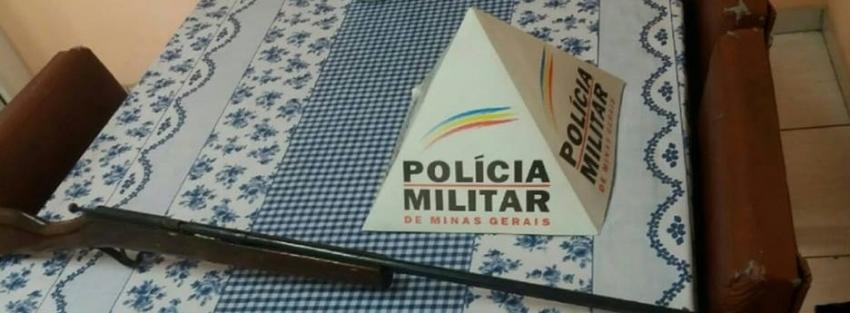 Policia apreende arma de fogo na zona rural de Pedro Leopoldo