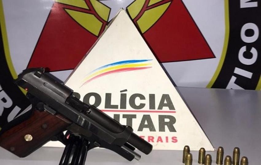 Polìcia Militar apreende arma de fogo no bairro Thetônio Batista de Freitas