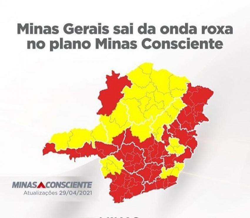 Minas Gerais sai da onda roxa, no plano Minas Consciente