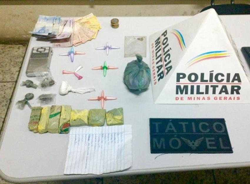 Policia Militar apreende drogas e prende  suspeito de tráfico em Lagoa de Santo Antônio