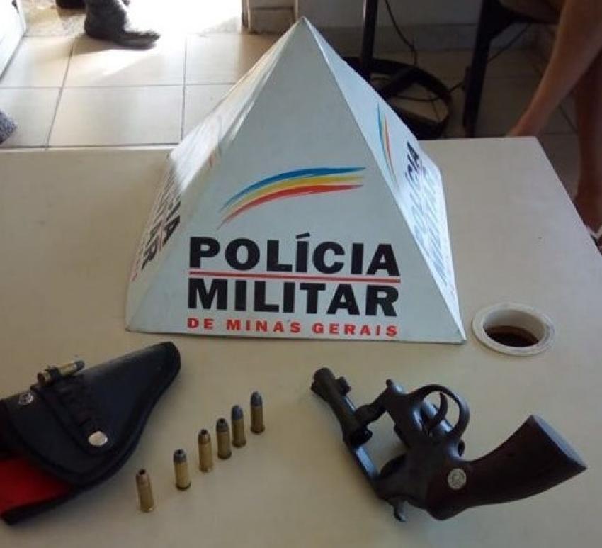 Suspeito é preso e arma e munições são apreendidas na MG 10