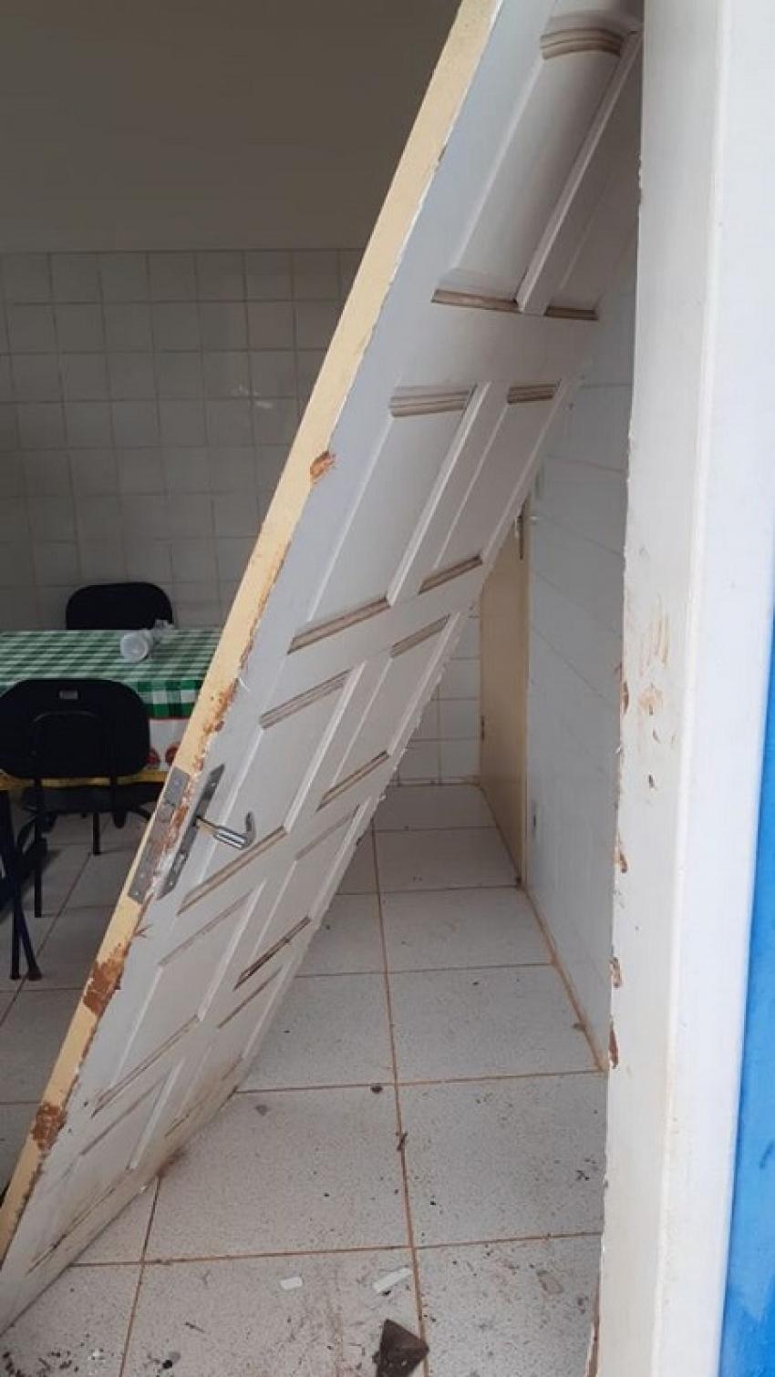 Unidade de Saúde Básica de Lagoa de santo Antônio foi arrombada e vários objetos furtados
