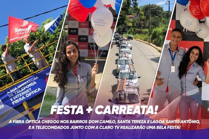A fibra Otica da Telecomdados chega na região Norte com grande festa no bairro Dom Camilo neste sábado, 27