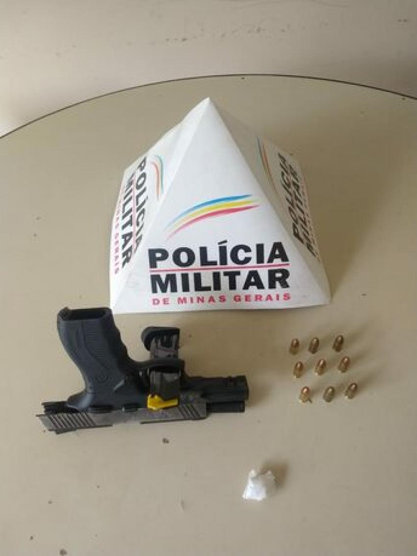 Policia  Militar prende autor por porte ilegal de arma de fogo em Matozinhos