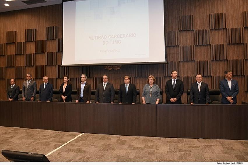 Tribunal de Justiça do Estado de Minas Gerais TJMG divulga números de mutirão carcerário