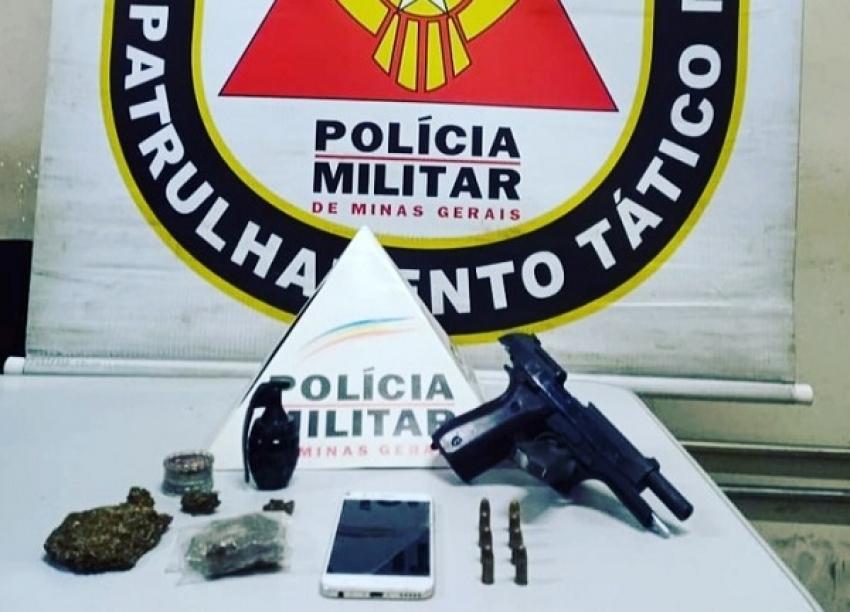 POLÍCIA MILITAR ACABA COM BAILE FUNK E APREENDE ARMA DE FOGO E DROGAS NA LAGOA DE SANTO ANTÔNIO