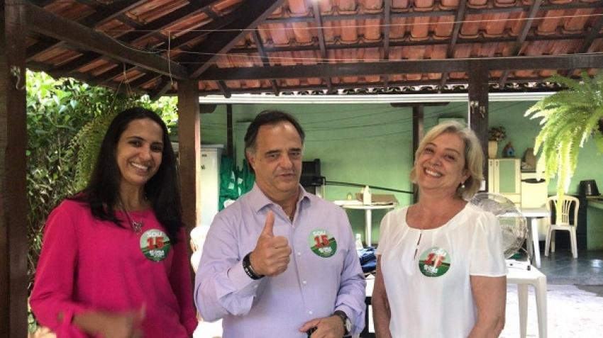 O deputado Mauro Tramonte libera recursos para reformas de escolas em Pedro Leopoldo atendendo pedido da prefeita eleita Eloisa Helena