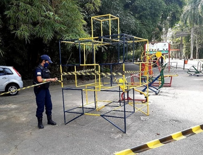 Academia ao ar da Avenida Rômulo Joviano foi interditada