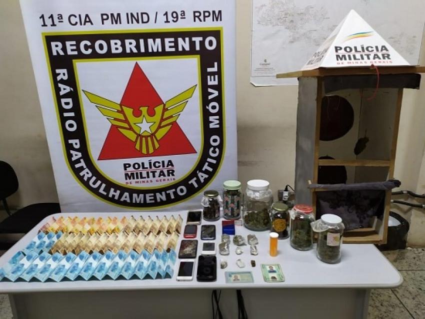 Homem foi preso, droga e arma apreendida no bairro São José