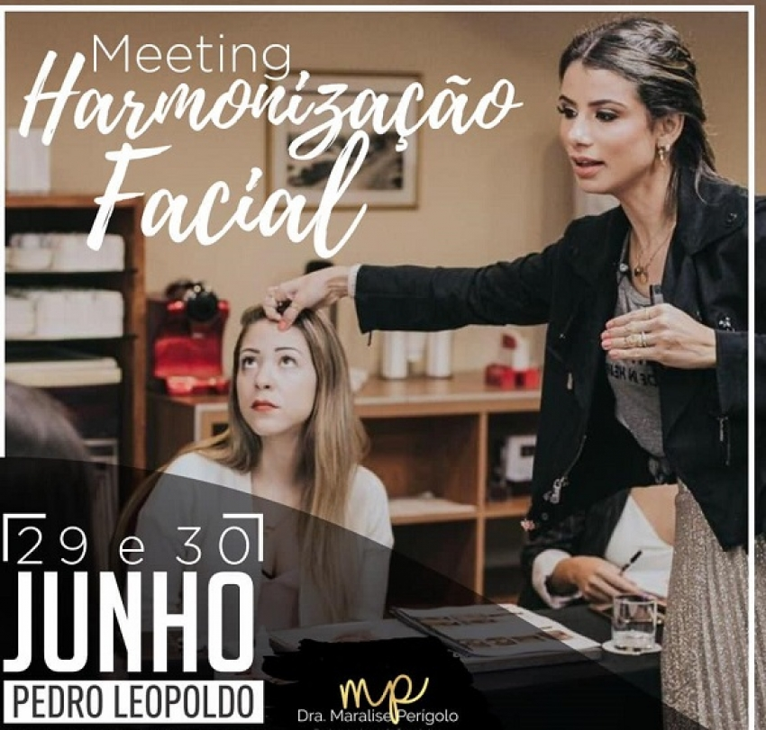 Dia 29 e 30 de junho, Dra Maralise Perigolo estará promovendo um curso de Harmonização Facial aqui em Pedro Leopoldo!