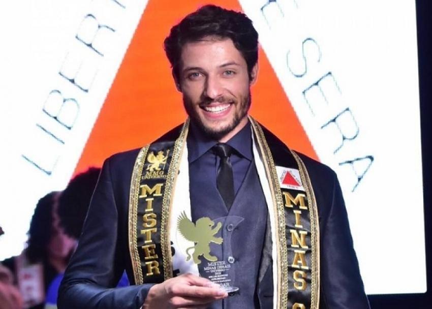 O jovem de Pedro Leopoldo Daniel Moura conquistou nesse sábado (27) em Patos de Minas o concurso Mister Minas Gerais Universo 2019.
