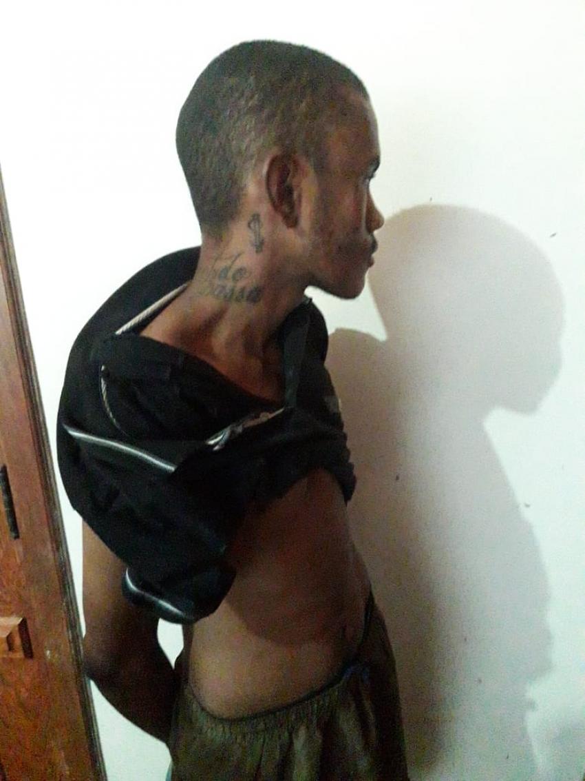 ROUBO COM PRISÃO DO AUTOR E MATERIAL RECUPERADO EM LAGOA DE SANTO ANTÔNIO