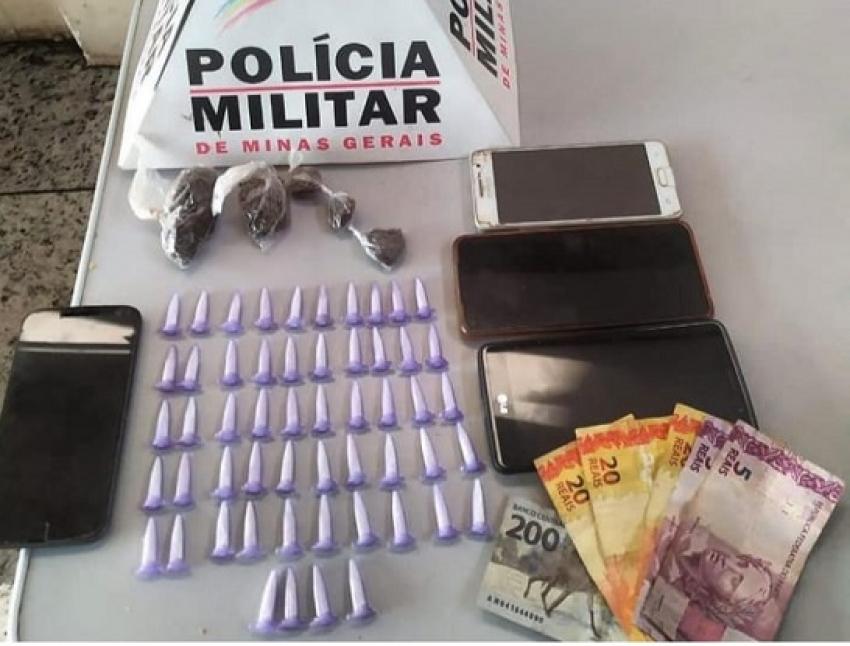 Policia apreende drogas e prende suspeito de trafico em Lagoa de Santo Antônio