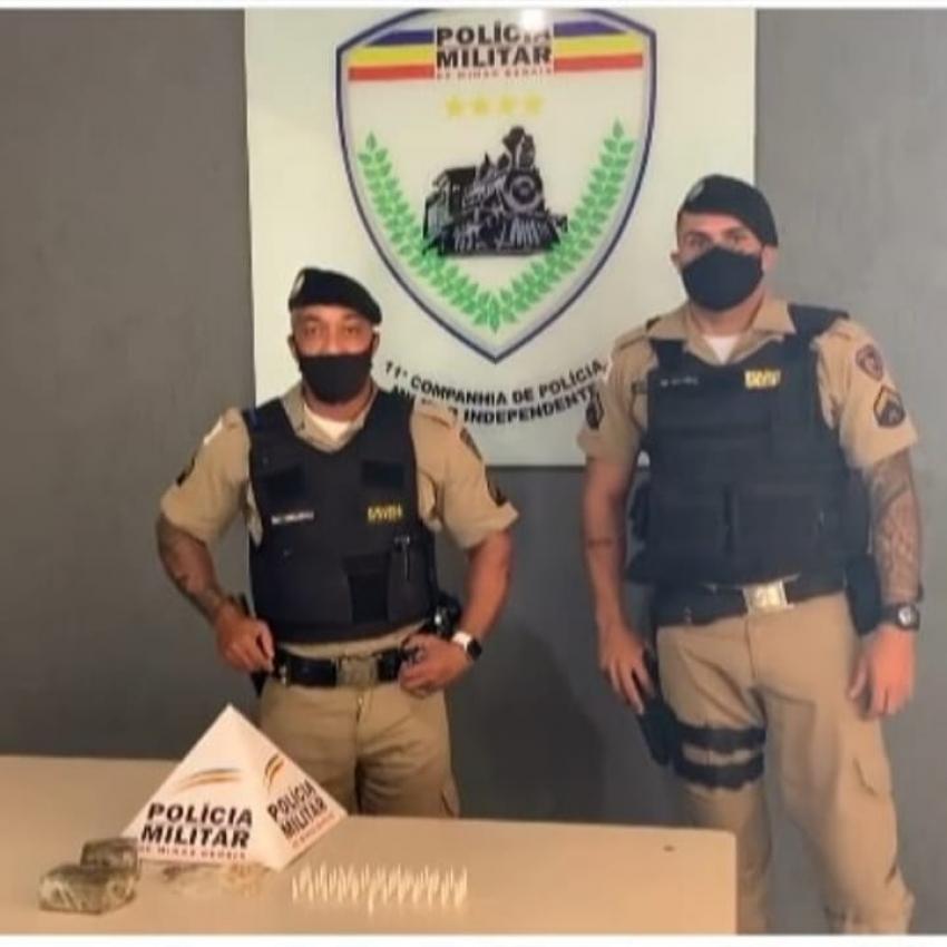 Policia Militar de Pedro Leopoldo apreende grande quantidade de drogas no bairro Santo Antônio
